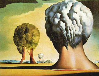 Peinture Dali Trois Sphinx